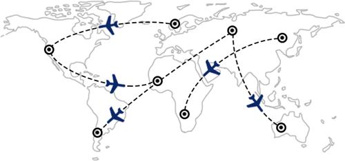 Rutas y combinaciones de vuelos en todo el mundo